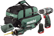 Aкумулаторен винтоверт Metabo PowerMaxx BS Basic + Акумулаторна ножовка Metabo ASE  - 10.8V/2.0Ah Li-Ion
