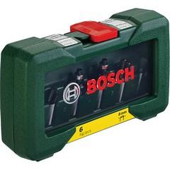 Комплект фрезери Bosch, 6 части, Ф8мм опашка