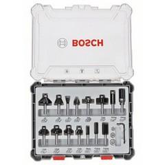 Комплект фрезери Bosch Professional, 15 части, Ф6мм опашка