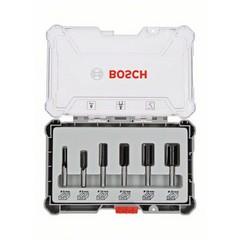 Комплект фрезери Bosch Professional, 6 части, Ф6мм опашка