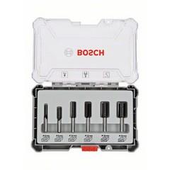 Комплект фрезери Bosch Professional, 6 части, Ф8мм опашка